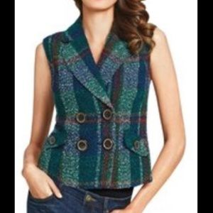 CAbi Blended Wool Double Breasted Vest Style #908